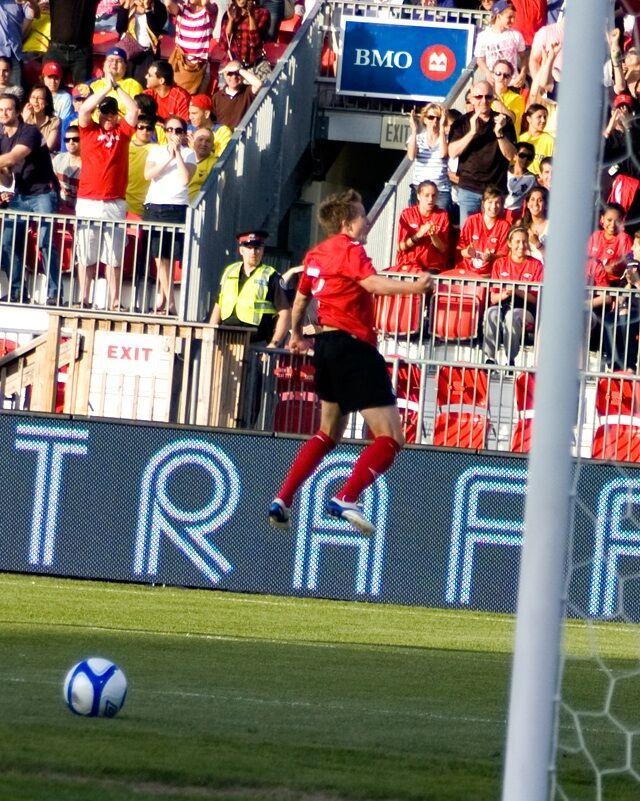 Terry Dunfield jumps for joy. PHOTO: KANISHKA SONNADARA