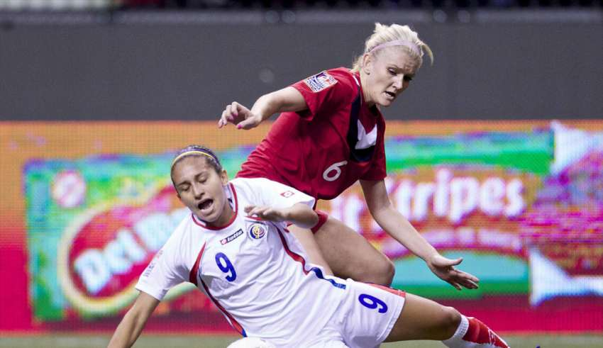 Kaylyn Kyle in action vs. Costa Rica PHOTO: MEXSPORT/CANADA SOCCER