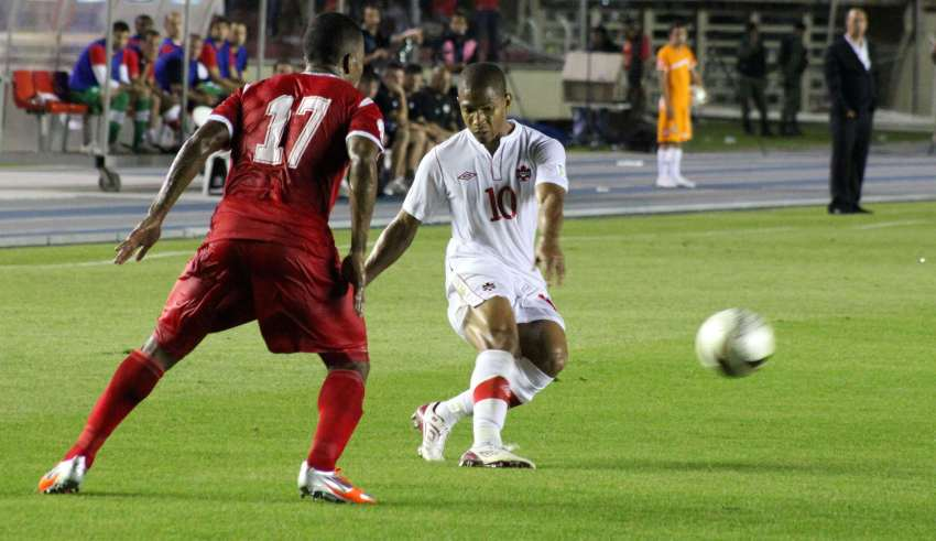 Simeon Jackson in action against Panama. PHOTO: CANADA SOCCER