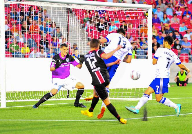John Smits in action in the 2015 Amway Canadian Championship against Ottawa. PHOTO: STEVE KINGSMAN/CANADA SOCCER