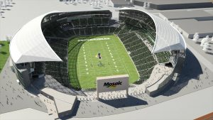 New Mosaic Stadium (artist's rendering)
