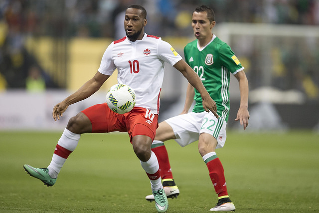 Canada's Junior Hoilett is seen in action against Mexico. PHOTO: MEXSPORT/CANADA SOCCER