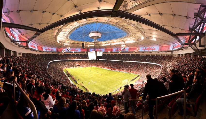 BC Place was full for Friday's World Cup qualifier. PHOTO: JAY SHAW/CANADA SOCCER