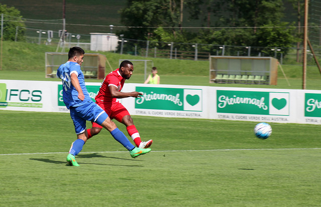 Junior Hoilett in action against Uzbekistan. PHOTO: CANADA SOCCER