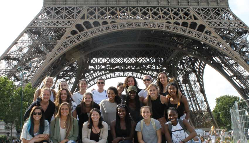 The Canadian women's team visited Paris earlier this week.