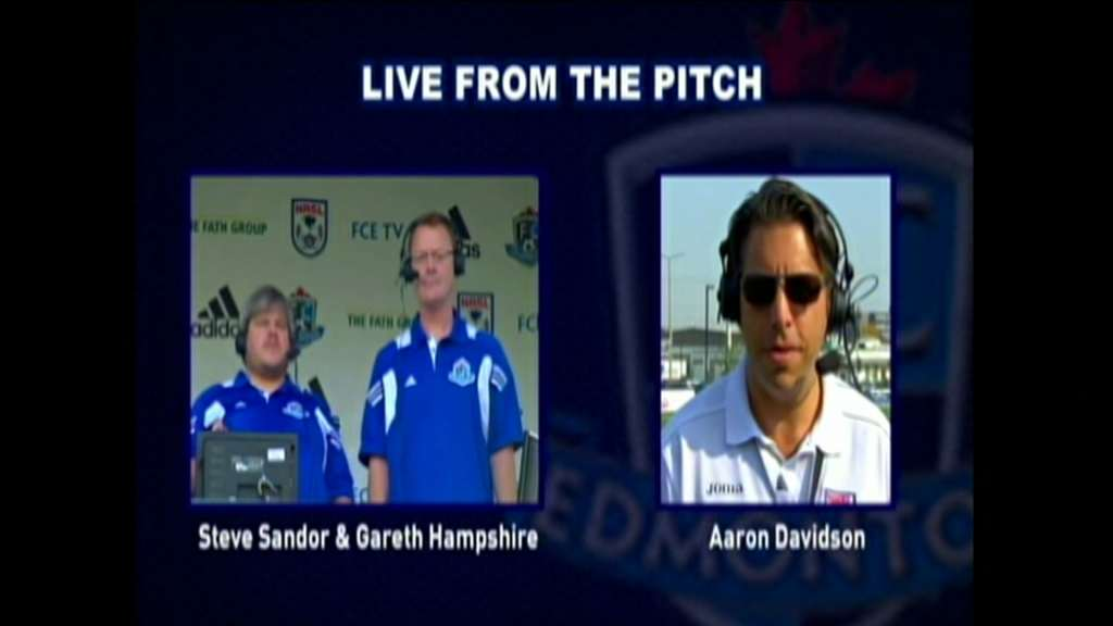 Blast from the past: Steven Sandor and Gareth Hampshire interviewing Aaron Davidson on-air