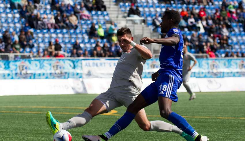 Too many empty seats for a top-of-the-table team. PHOTO: TONY LEWIS/FC EDMONTON