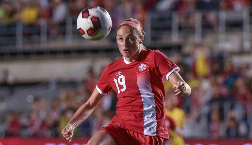 Janine Beckie PHOTO: CANADA SOCCER/STEVE KINGSMAN
