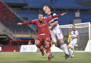 Ottawa's Carl Haworth in action against FC Edmonton. PHOTO: STEVE KINGSMAN/CANADA SOCCER