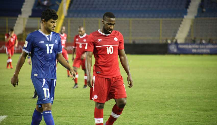 Canada in action against El Salvador in 2015.
