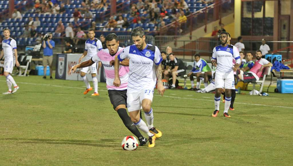 FCE's Nico Di Biase in action against Fort Lauderdale PHOTO: NASL