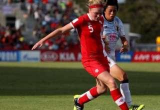 Hannah Taylor in action against Japan PHOTO: CANADA SOCCER