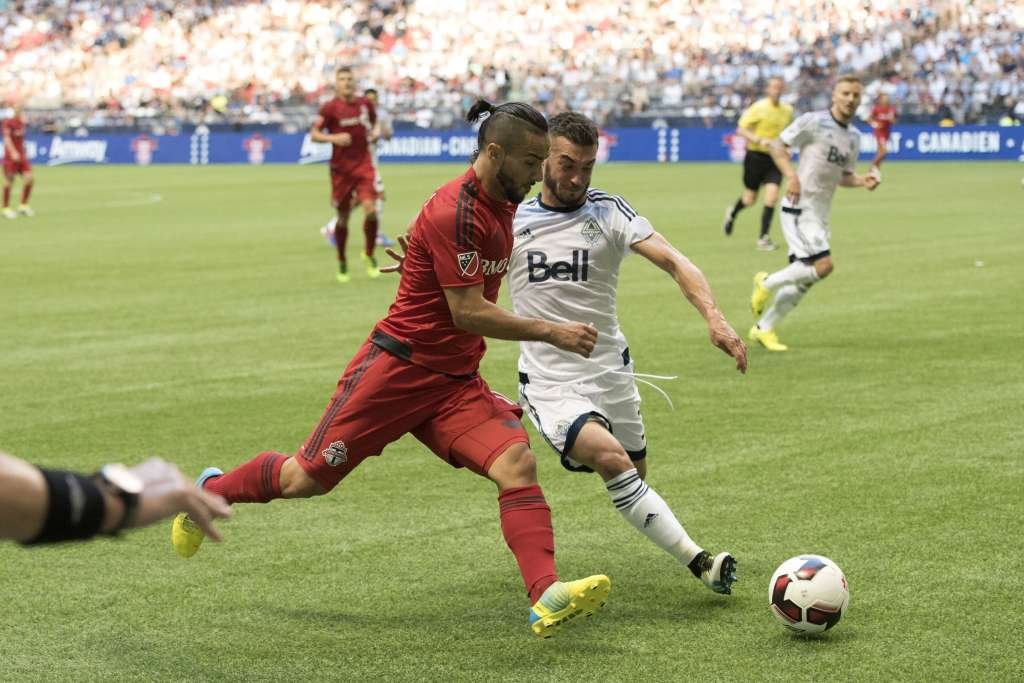 Russell Teibert, right, is one of nine MLS Canadians to get domestic status. PHOTO: JAY SHAW/CANADA SOCCER