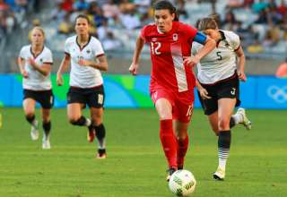 Christine Sinclair at the Olympics. PHOTO: MEXSPORT/CANADA SOCCER